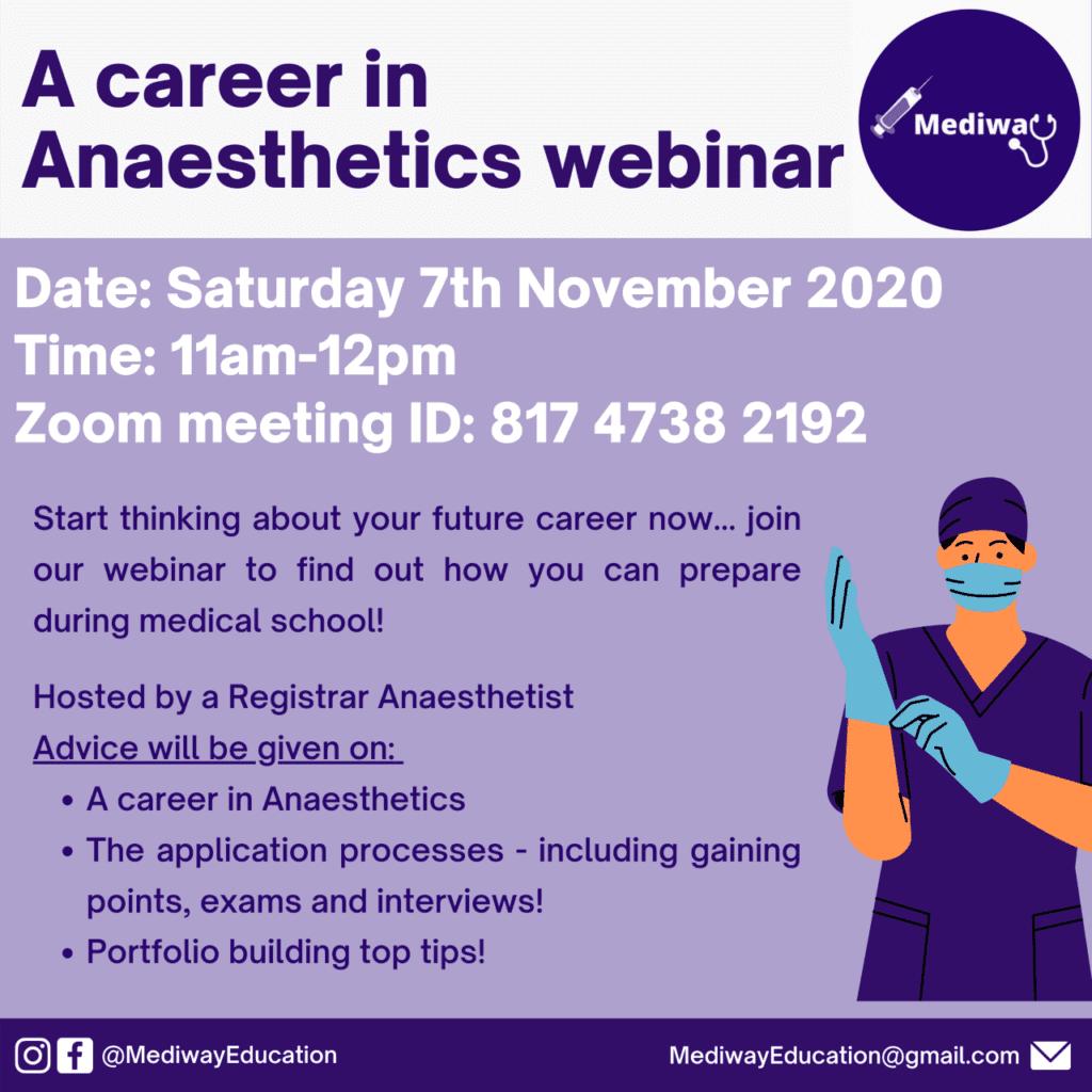 A Career in Anaesthetics Webinar by Mediway