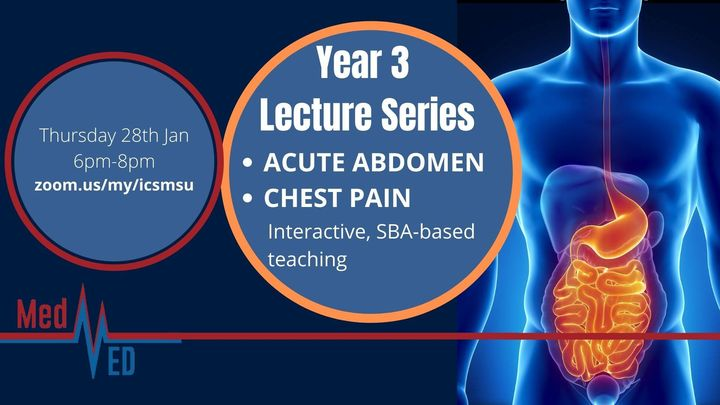 Year 3 Lecture Series: Acute Abdomen and Chest Pain
