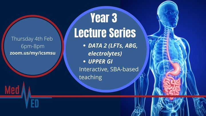 Year 3 Lecture Series: Data 2 and Upper GI