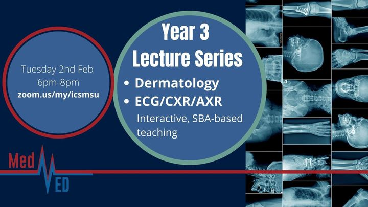 Year 3 Lecture Series: Dermatology and Data 1 (ECG, CXR and AXR)