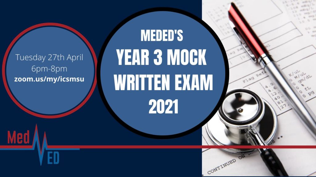 MEDED'S YEAR 3 MOCK WRITTEN EXAM